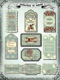 Collection de labels de vintage de couleur pour la conception Images libres de droits
