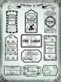 Collection de labels de vintage pour la conception victorian Photographie stock libre de droits