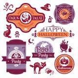Collection de labels et de signes de Halloween Photos libres de droits