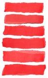 Collection de larmes de papier rouges images stock