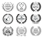 Collection de Laurel Wreath Vector Basic Black illustration libre de droits