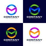 Collection de logo abstrait de la lettre M illustration stock