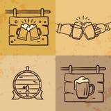 Collection de logo de bière de métier, marquant avec des lettres la conception d'emblème d'illustration de vecteur illustration de vecteur
