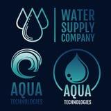 Collection de logo d'eau propre Approvisionnement en eau et aqua Illustration de Vecteur