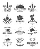 Collection de logo de nourriture de vecteur illustration de vecteur