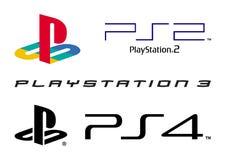 Collection de logo de station de jeu illustration stock