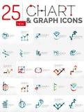 Collection de logos de diagramme Photographie stock libre de droits