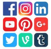Collection de logos sociaux populaires de media