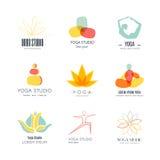 Collection de Logotypes de yoga Images stock