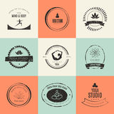 Collection de Logotypes de yoga Photo libre de droits
