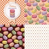 Collection de macaron illustration stock
