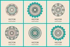 Collection de mandalas Fond tiré par la main Photos libres de droits