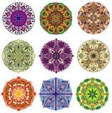 Collection de mandalas Modèle rond d'ornement Photo stock