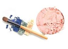 Collection de maquillage et isolat professionnels d'outils sur le blanc photos libres de droits