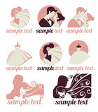 Collection de mariage illustration stock