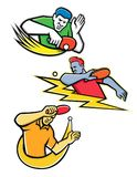 Collection de mascotte de sports de ping-pong Images stock