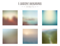 Collection de 6 milieux de gradient de vintage Photos stock