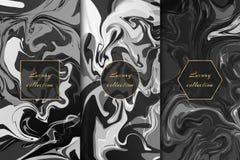 Collection de milieux de marbre monochromes illustration de vecteur