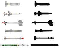 Collection de missiles Photos libres de droits