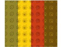 Collection 1 de modèle de feuille d'automne Image libre de droits
