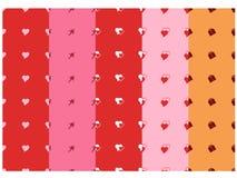 Collection 1 de modèle de Valentine Image libre de droits