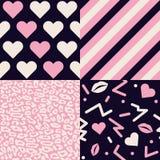 Collection de modèles d'amour Images libres de droits