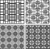 Collection de modèles géométriques sans couture carrés rayés illustration libre de droits