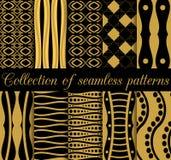 Collection de modèles sans couture géométriques dans le style d'art déco Images stock