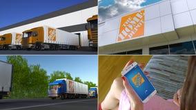 Collection de montage de l'activité économique relative de société de Home Depot Animation éditoriale banque de vidéos