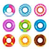 Collection de natation en caoutchouc d'anneaux illustration de vecteur