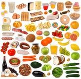 Collection de nourriture Photos stock
