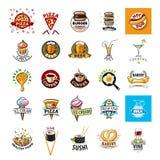 Collection de nourriture de logos de vecteur illustration stock