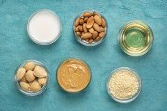Collection de nourritures superbes d'amande photo libre de droits