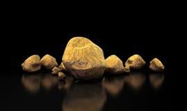 Collection de pépite d'or Images libres de droits