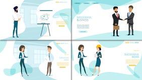 Collection de page d'atterrissage de vecteur de société commerciale illustration de vecteur