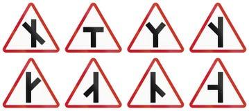 Collection de panneaux routiers d'avertissement philippins Photographie stock libre de droits