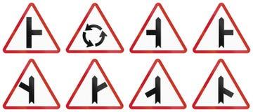 Collection de panneaux routiers d'avertissement philippins Photo libre de droits