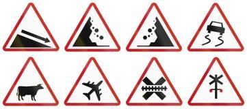 Collection de panneaux routiers d'avertissement philippins Image libre de droits