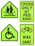 Collection de panneaux routiers d'avertissement philippins Photo stock
