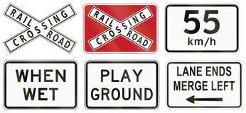 Collection de panneaux routiers d'avertissement philippins Photos stock