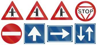 Collection de panneaux routiers de réglementation néerlandais Photographie stock