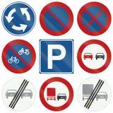 Collection de panneaux routiers de réglementation néerlandais Image libre de droits