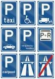 Collection de panneaux routiers de réglementation néerlandais illustration de vecteur