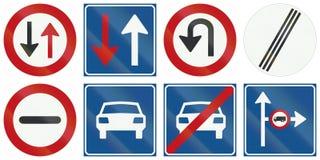 Collection de panneaux routiers de réglementation néerlandais Photos stock