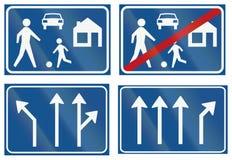 Collection de panneaux routiers de réglementation néerlandais Photographie stock libre de droits