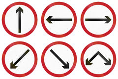 Collection de panneaux routiers de réglementation néerlandais obsolètes Images stock