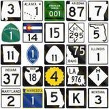 Collection de panneaux routiers numérotés utilisés aux Etats-Unis illustration de vecteur