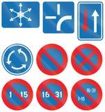 Collection de panneaux routiers utilisés en Belgique illustration de vecteur