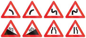 Collection de panneaux routiers utilisés en Belgique Photo stock