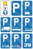 Collection de panneaux routiers utilisés en Belgique illustration stock